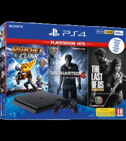 Playstation 4 500GB + 3 Jogos PS HITS