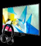 """Smart TV 4K 55"""" Samsung QE55Q80 + Auscultadores AKG Y500"""